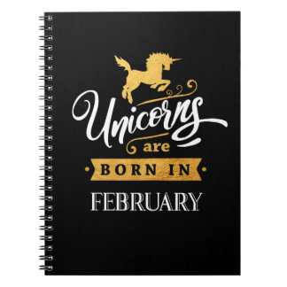 Unicorns are born in February - Calligraphy Art Notebook