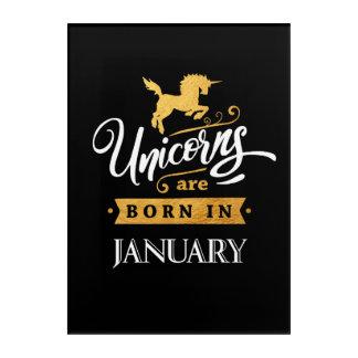Unicorns are born in January - Calligraphy Art