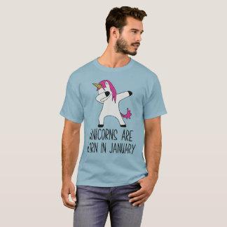 Unicorns Are Born In January Dabbing T-Shirt