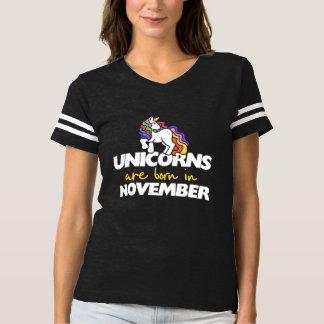 Unicorns are born in november t-shirt