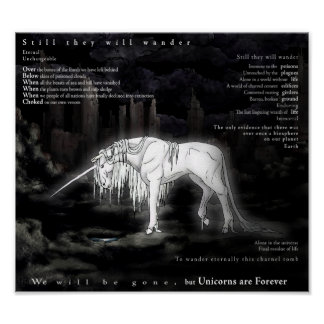 Unicorns are Forever Poster