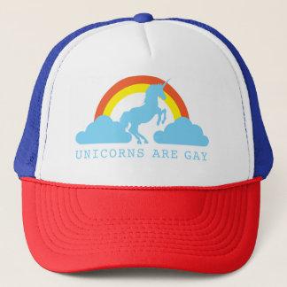 Unicorns are Gay with Rainbow on Trucker Hat