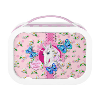 Unicorns are Magic Lunch Box in Pink