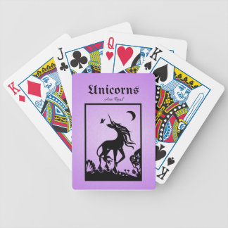 Unicorns are Real Bicycle Playing Cards
