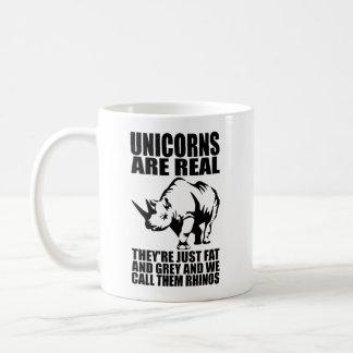 Unicorns Are Real - They're Rhinos - Funny Novelty Coffee Mug