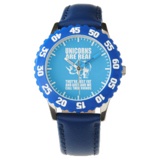 Unicorns Are Real - They're Rhinos - Funny Novelty Wristwatches