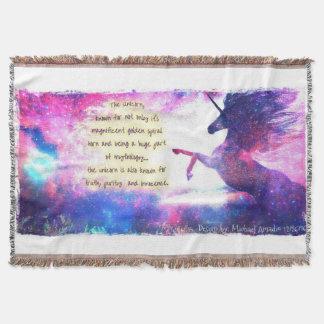 Unicorn's Fable Throw Blanket