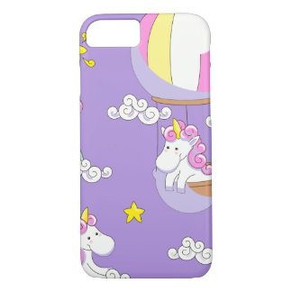 Unicorns in Balloons on Rainbows and on Clouds Case-Mate iPhone Case