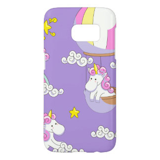 Unicorns in Balloons on Rainbows and on Clouds Samsung Galaxy S7 Case