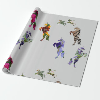 Unicorns Matte Wrapping Paper, 30 in x 6 ft Wrapping Paper