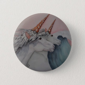 Unicorns of the sea 2 inch round button