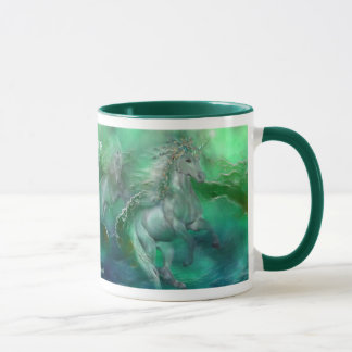 Unicorns Of The Sea Art Mug