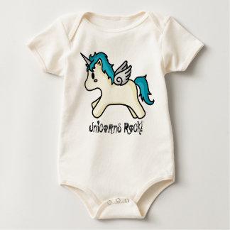 Unicorns Rock [Blue] Infant Creeper