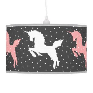 unicorns snow pendant lamp