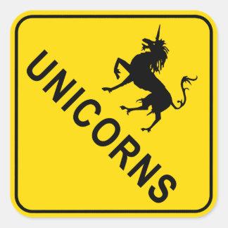Unicorns Square Stickers