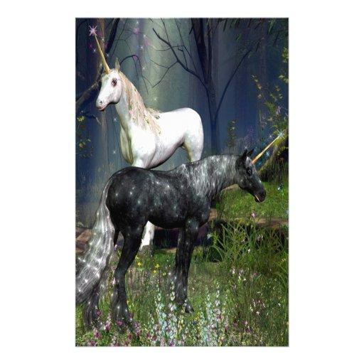 Unicorns Custom Stationery