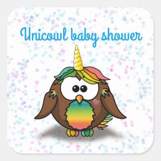 unicowl square sticker