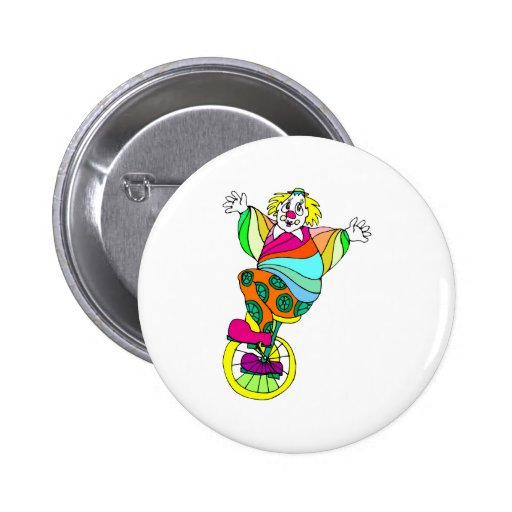 Unicycle Clown Pins