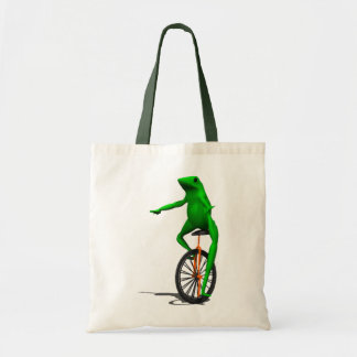 Unicycle Frog Tote Bag