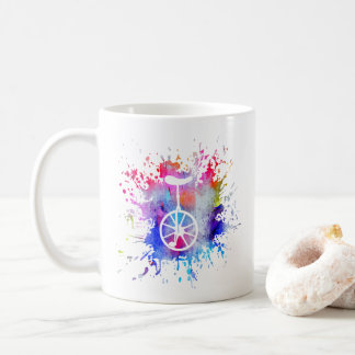 Unicycle Paint Splatter Mug