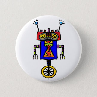 Unicycle Robot 2 Inch Round Button