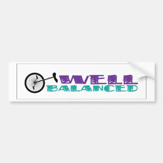 UNICYCLE Well Balanced BUMPER STICKER