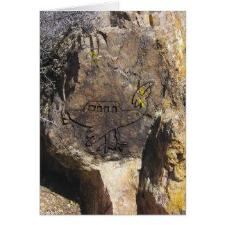 Unidentified Flying Object Petroglyph Card