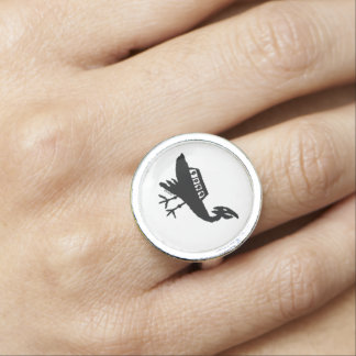 Unidentified Flying Object Petroglyph Ring