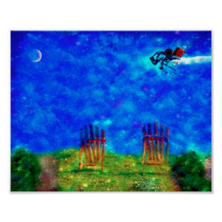 Unidentified Flying Wheel Chair No Frame 8x10 Poster