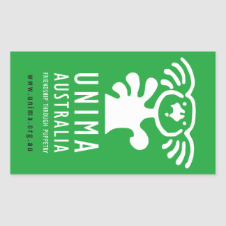 UNIMA Australia sticker GREEN (Sheet of 4)