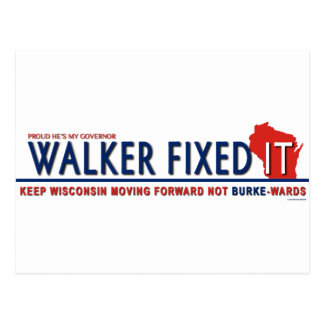 Unintimidated Scott Walker Postcard