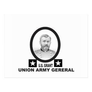 union army general US grant Postcard