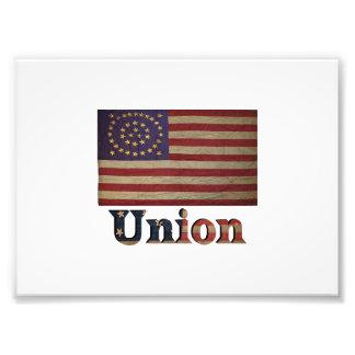 Union Army USA Civil War Flag Photo