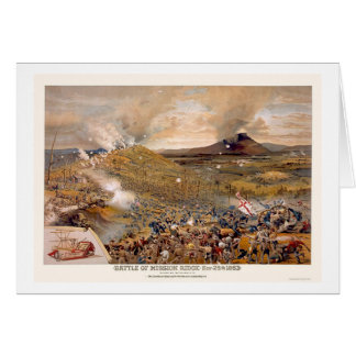 Union Assault During the Battle of Mission Ridge  Card