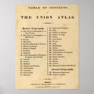 Union atlas poster