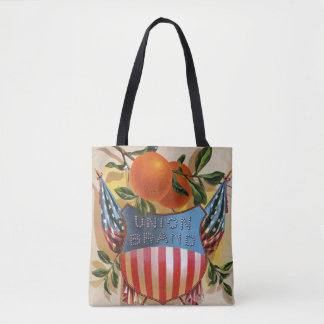Union Brand Orange Crate Label Tote Bag