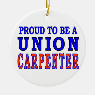 UNION CARPENTER CERAMIC ORNAMENT
