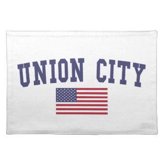 Union City NJ US Flag Placemat