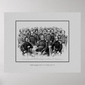 Union Civil War Generals Poster