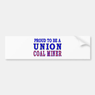 UNION COAL MINER BUMPER STICKER