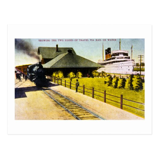 Union Depot in Sault Ste. Marie, Michigan Postcard