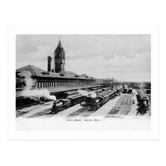Union Depot Train Station, Denver,Colorado Vintage Postcard