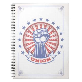 Union Fist 817 Spiral Notebook