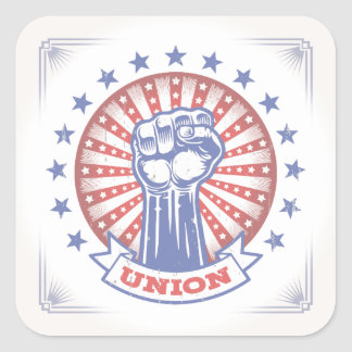 Union Fist 817 Square Sticker