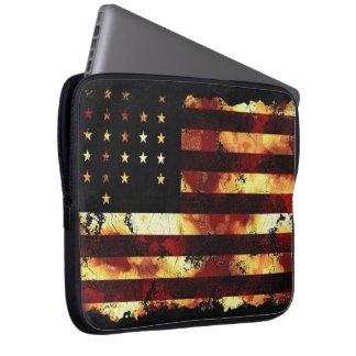 Union Flag, Civil War, Stars & Stripes, USA Laptop Sleeve