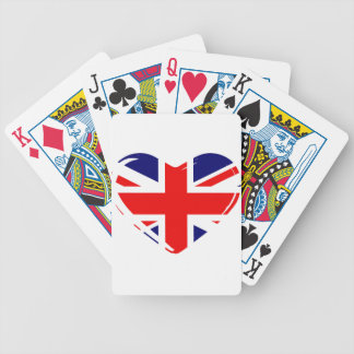 Union Flag Heart Bicycle Playing Cards