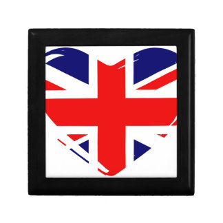 Union Flag Heart Jewelry Box