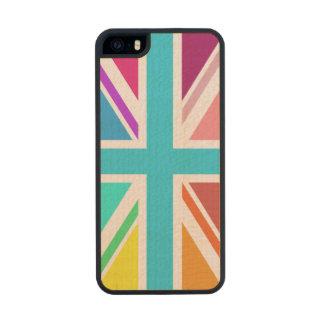 Union Flag/Jack Design – Multicoloured Wood iPhone SE/5/5s Case