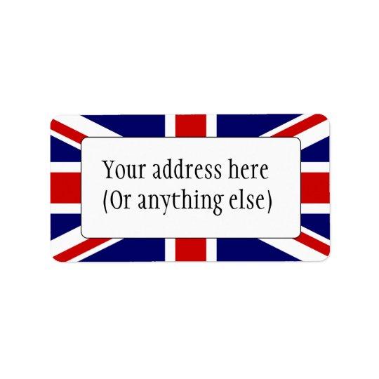Union Flag Label