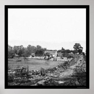 Union Headquarters in Gettysburg 1863 Poster